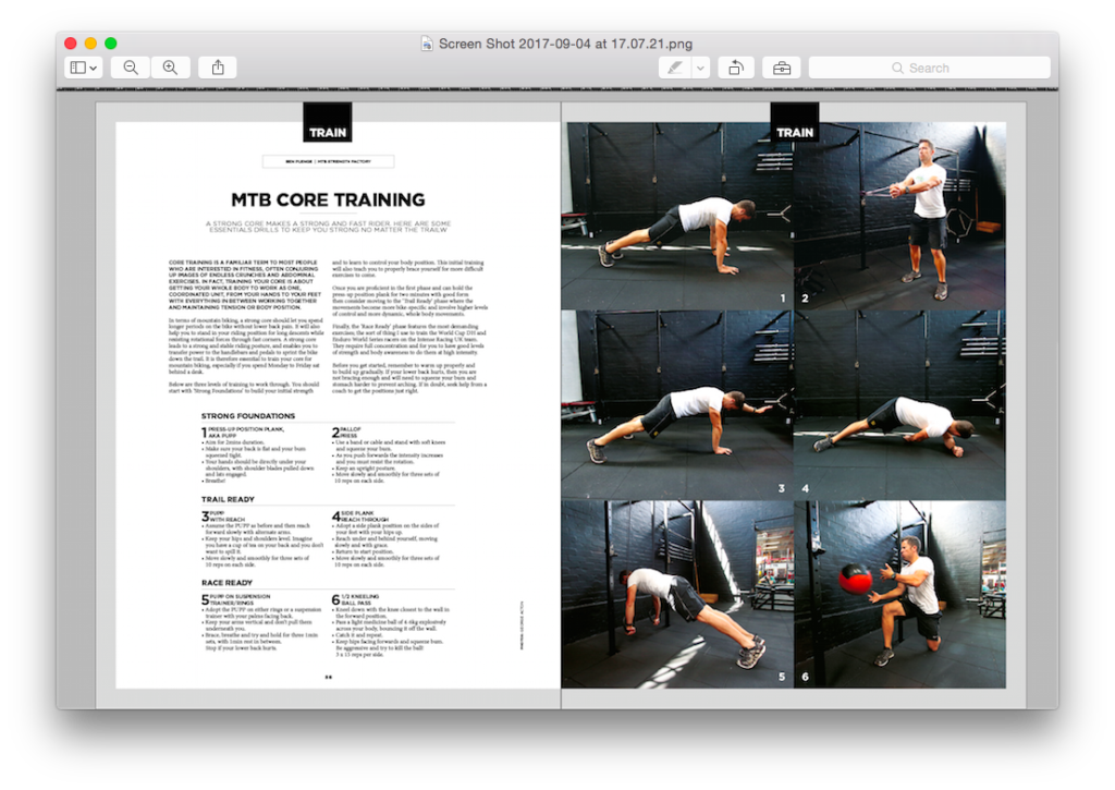 Core Training Article in InCycle Magazine