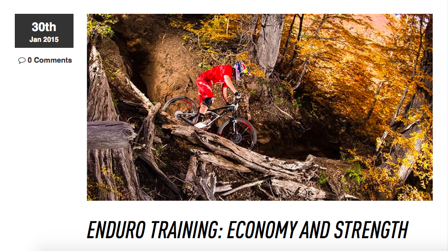 Enduro Training Article for Specialized